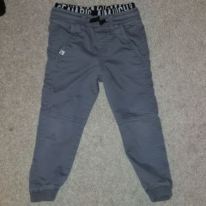 Gray Joggers with elastic band